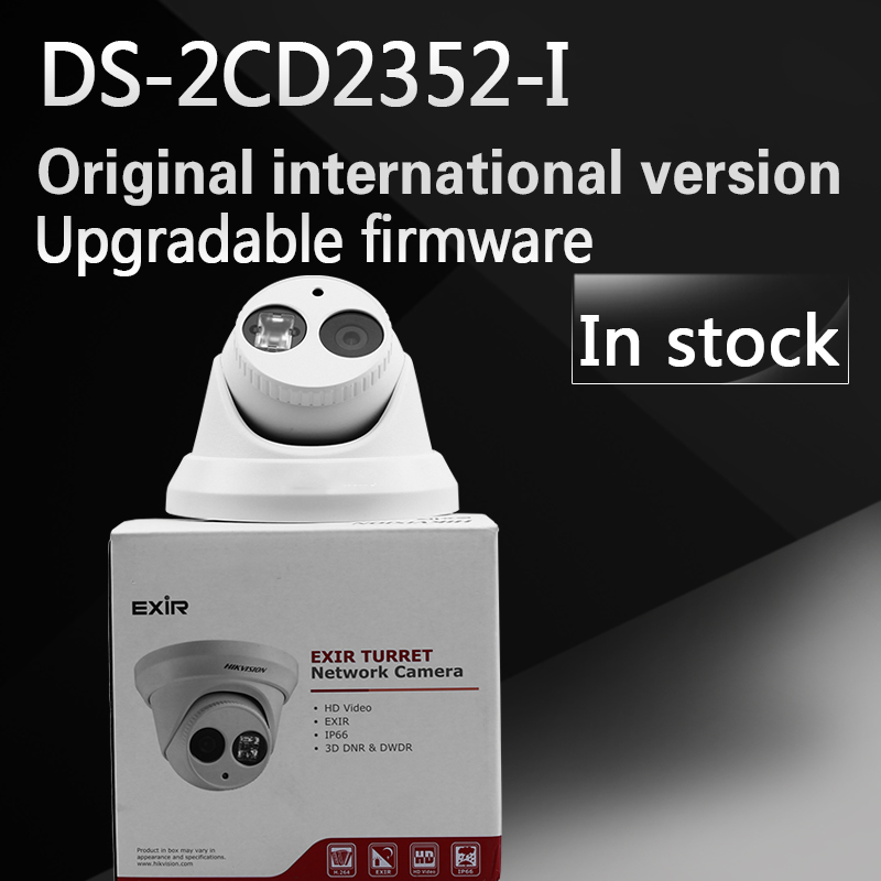 In stock DHL Free shipping DS-2CD2352-I replace DS-2CD2355-I English version 5MP WDR EXIR turret network ip security POE camera free shipping in stock new arrival english version ds 2cd2142fwd iws 4mp wdr fixed dome with wifi network camera