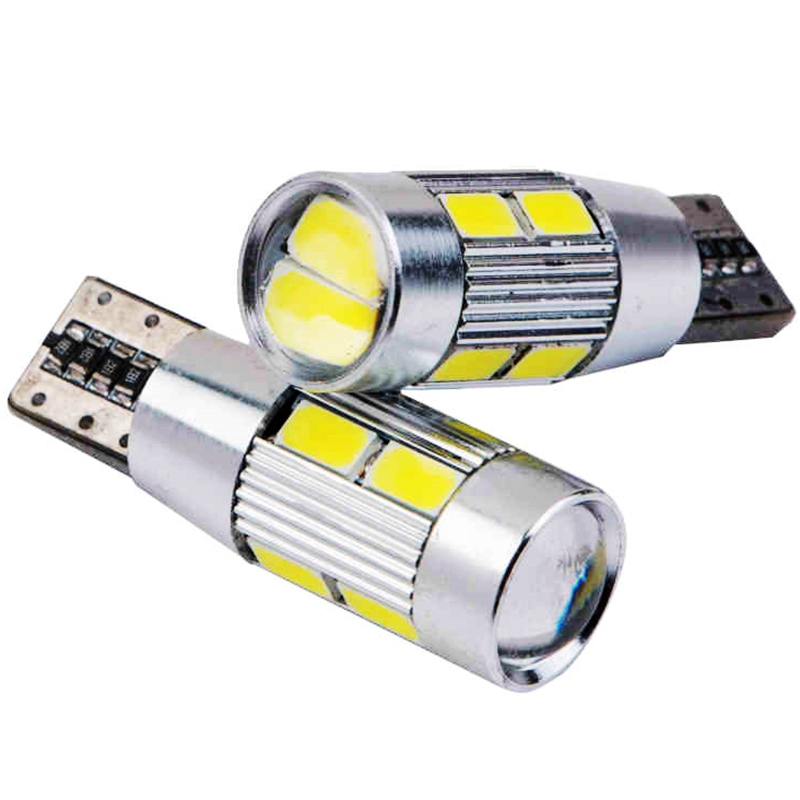 100pcs T10 194 W5W 10 SMD 5630 5730 led lens canbus no error Car lamps 10SMD