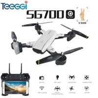 Teeggi SG700 FPV RC Qudacopter with Dual HD Camera Foldable Selfie MINI Drone Helciopter Optical Follow Mode VS SYMA X5SW X5HW