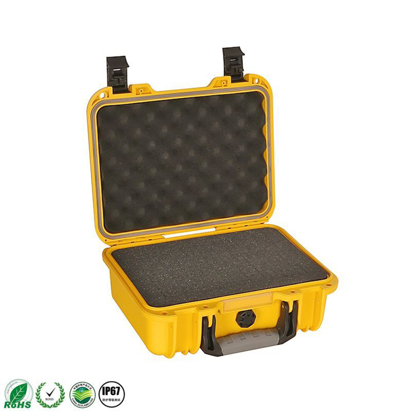 SQ6108 250*180*145.5mm high impact plastic hard case with pick pluck foam sq2620 high impact pp simple plastic tool case with pick pluck foam inside