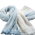 190 X 100 Super Soft Two Tone Lightweight Cotton Linen Scarf Large Size Thin Lady Summer Beach Tan Scarves With Fringe