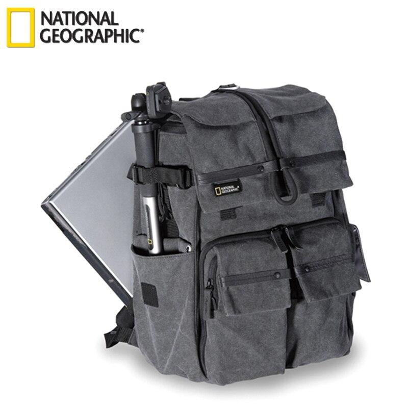 """Nouveau véritable National géographique NG W5070 caméra étui sac épaules sac à dos sac à dos peut mettre 15.6 """"ordinateur portable en plein air en gros"""