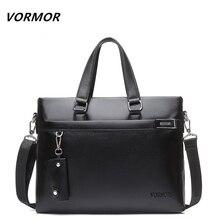 VORMOR Brand 2017 Men Casual Shoulder Bag Business Briefcase PU Messenger Bags Computer Laptop Handbag Bag