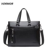 VORMOR Brand 2016 Men Casual Shoulder Bag Business Briefcase PU Messenger Bags Computer Laptop Handbag Bag
