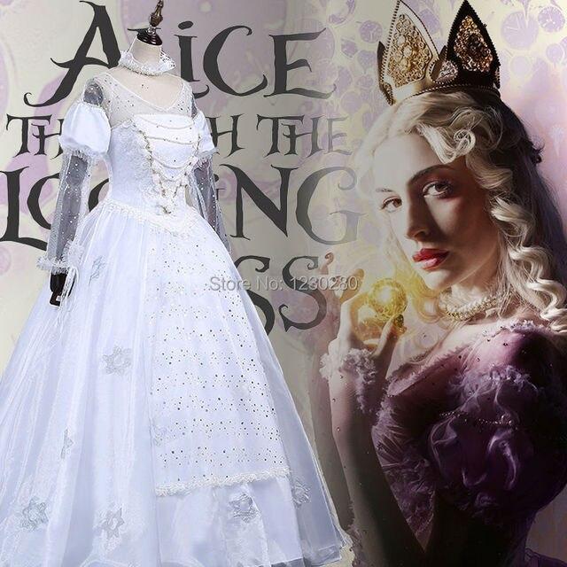 2016 Alice Im Wunderland Die Weiße Königin Cosplay Halloween Kostüme