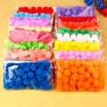 Hábil comercio Ponpon 20mm Multicolor pompón DIY decoración bola pompón manual de los niños juguetes educativos accesorios 50 unids/bolsa