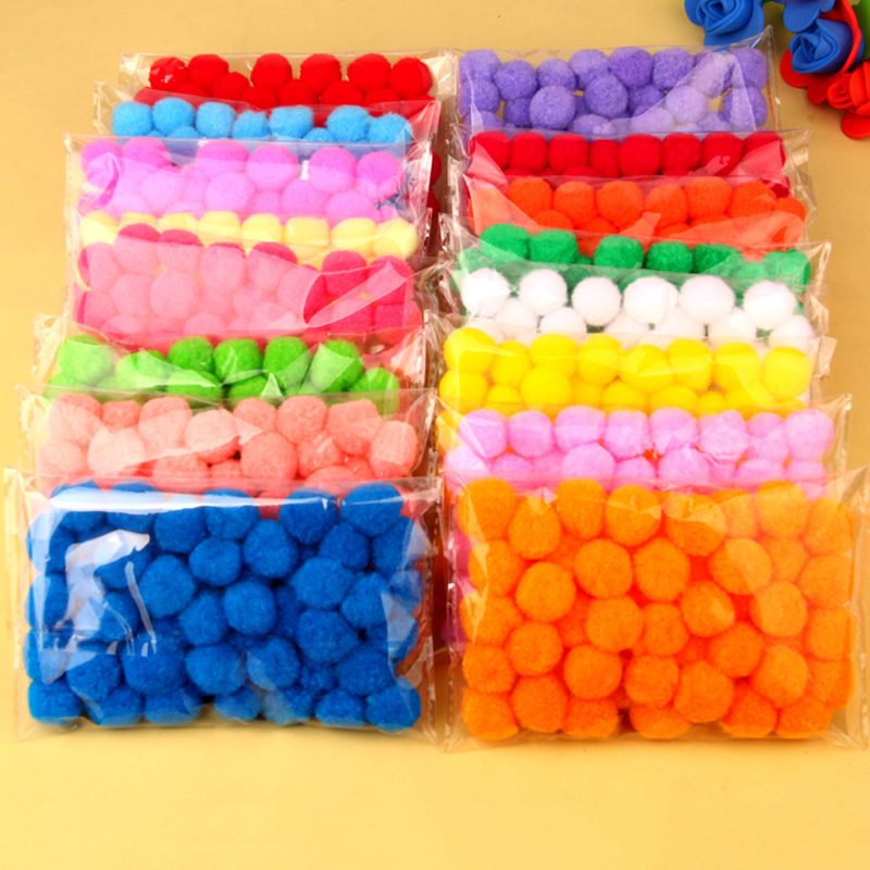 Skillful Trade Ponpon 20mm Multicolor Pompom DIY Decoración Ball Pompon Niños manual educativo Juguetes Accesorios 50PCS / bolsa