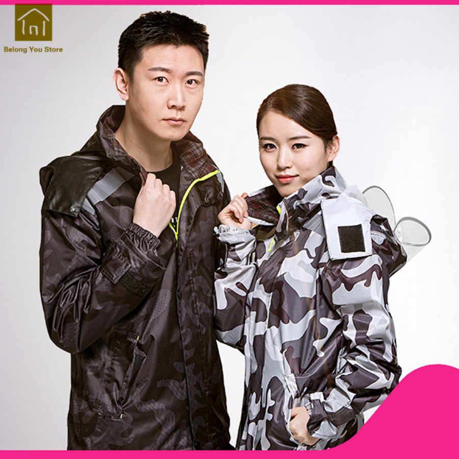 a2f5d801b ... Waterproof Raincoat Motorcycle Rain Suit Fishing Clothes Ladies Bicycle  Raincoat Women Camping Rain Poncho Military Men ...