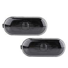 1 par lado marcador de luz capa para vw habitação capa para vw golf jetta bora mk4 passat b5 b5.5 lente preta corda do carro quente