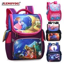 купить Children Orthopedic Schoolbag Primary Students Carton School Bag Illustration Floral Printing Backpack for Boys Girls Mochila по цене 2180.51 рублей