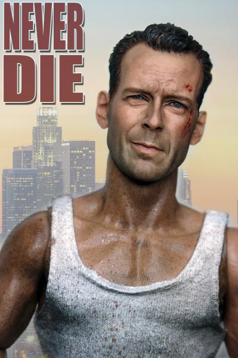 "Blank 1//6 Scale Live Free Or Die Hard Bruce Willis Head Sculpt Unpainted Fit 12/"""