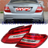 Rear brake turning parts LED Tail lamps taillights assembly for Mercedes benz W204 C180 C200 C220 C260 C280 C300 2011 2014 YEAR