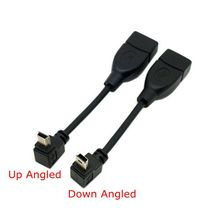 90 Degree Up & Down Angled Mini USB Type B to USB Female OTG Cable 10cm 50cm  short mini usb otg cable For Car Audio DVD GPS