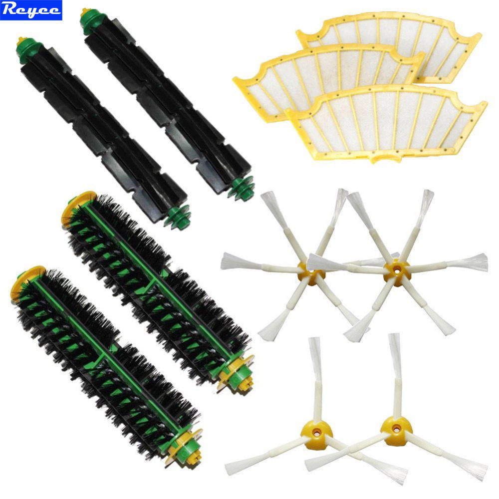 New Filters & 3/6 Brush kit for iRobot Roomba 500 Series 510 530 540 550 560 580 570 Bristle Flexible Beater Brush Free Post ntnt free post new 2 x flexible beater brush for irobot roomba 500 series 550 560 570 580 510 530