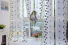 Curtain Window Sheer Valance Voile