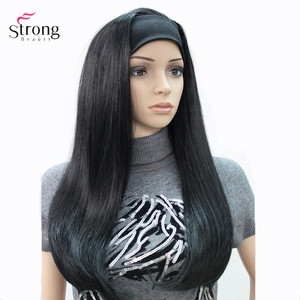 Image 2 - StrongBeauty Headband wigs Women Synthetic Capless Long Straight Hair Blonde/Black Natural Wigs