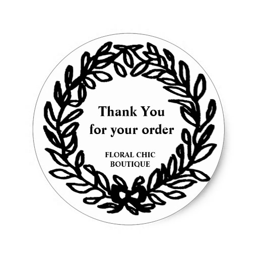 3 8cm vintage floral wreath custom business thank you classic round sticker in stickers from home garden on aliexpress com alibaba group