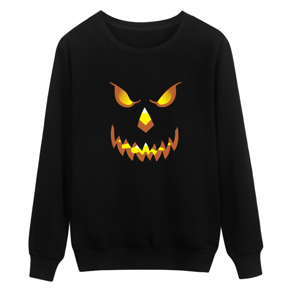 Print Halloween Pumpkin Capless Winter Hoodies Men Casual Black Funny Hoodies And Sweatshirts For Couples Trendy Popular Clothes
