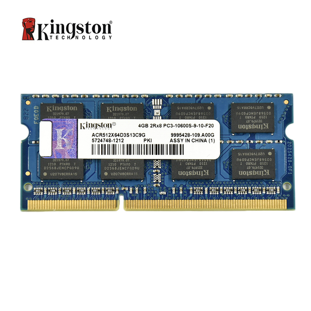 Kingston ram memory ddr3 2G 4GB 8GB 1333MHZ PC3-10600S 1600MHZ 12800S Memory DDR3 8 GB 204pin 1.5V Laptop Notebook SODIMM RAM