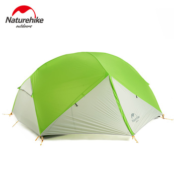Naturehike 3 Season Mongar Outdoors Camping Tent 20D Nylon Fabic Silicon Double Layer Waterproof Tent for 2 Persons NH17T007-M