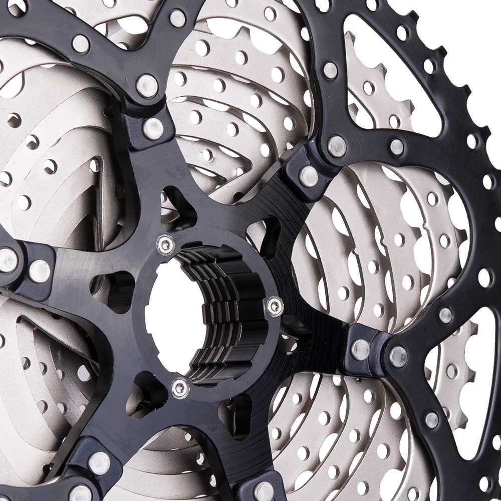 ZTTO MTB 9 Geschwindigkeit 50t Kassette Mountainbike Kassette 9v 11-50T Breite Verhältnis Fahrrad 9 S Freilauf Kompatibel mit M430 M4000 M590