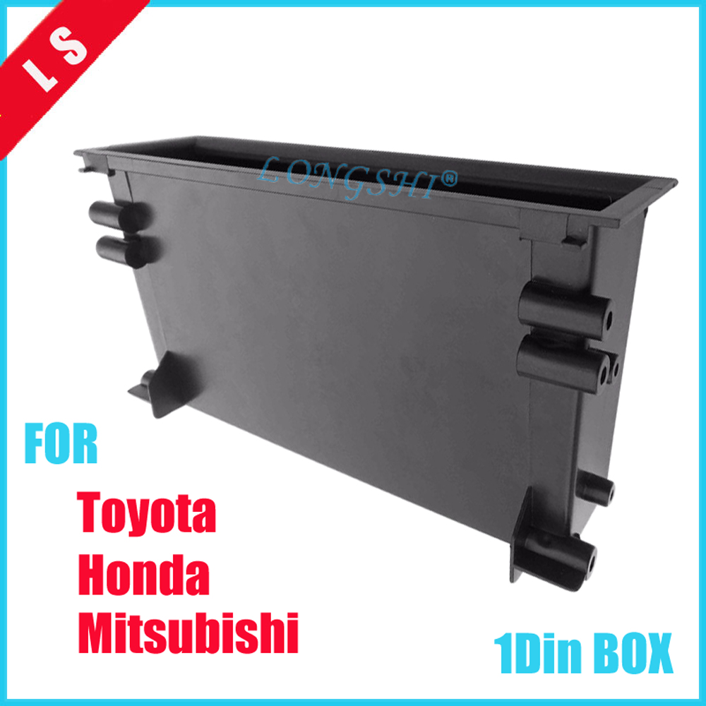 One 1 Din Car Stereo Radio Refitiing Storage Pocket Box Spacer for Toyota Mounting Trim Fascia Kit 1din image