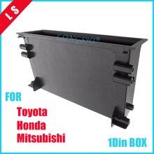 Um 1 Din Rádio Estéreo Do Carro Caixa de Armazenamento Bolso Refitiing Spacer para Toyota Montagem Guarnição Fascia Kit 1din