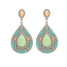 Bright Ethnic Drop Earrings
