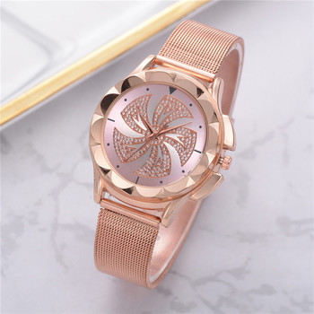 Fashion Womens Quartz Watches Delicate Stainless Steel Ladies Clock Mesh Belt Analog Bracelet Business Female Wrist Watches A4