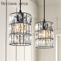 The Latest North America Style Country Crystal Chandelier Living Room Dining Room Bedroom Bedside Personality Chandelier