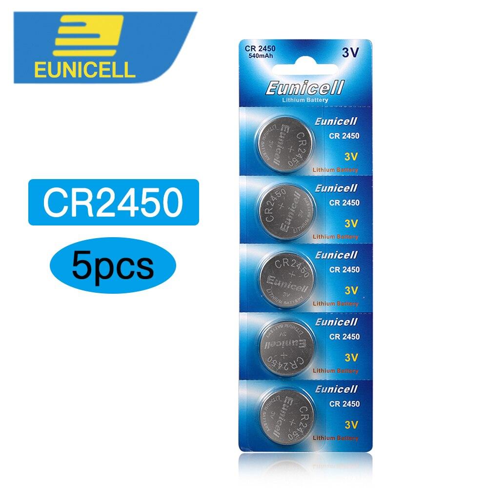 5pcs CR2450 Battery Alkaline Batteries 2450 ECR2450 KCR2450  24 5029LC LM2450 Button Cell Coin Battery 3V Lithium Watch Battery