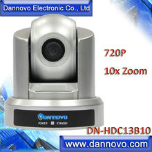 DANNOVO HD USB PTZ Camera for Web Conferencing, 10x Optical Zoom 720P, Plug & Play, Support VISCA, PELCO, RS-232C and RS-422