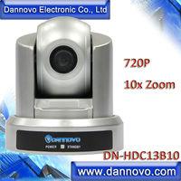 DANNOVO HD USB Câmera PTZ para Conferência Web, 10x Zoom Óptico de 720 P, Plug & Play, suporte VISCA, PELCO, RS-232C e RS-422