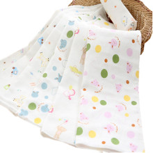 100% Muslin Cotton 2 Layers Bib 25x50cm Soft Cute Handkerchief For Infant Kid Children Feeding Bathing Face Washing