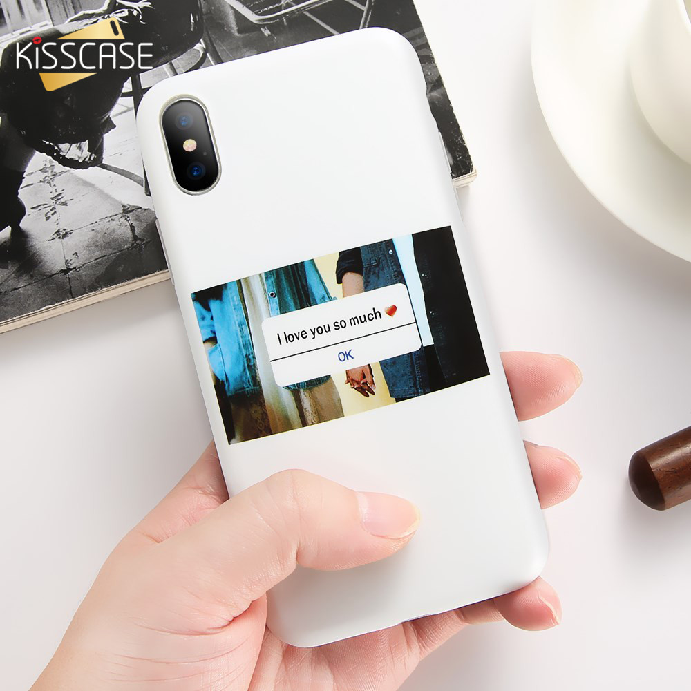 KISSCASE Holding Hands Couple Phone Case For iPhone 6 6S Plus Cases Fashion Soft TPU Phone Cover For iPhone X 10 Ten Coque Capa