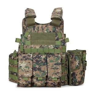 Image 4 - Multicam Camouflage Molle 나일론 모듈러 조끼 전술 전투 조끼 야외 사냥 6094 조끼 군사 남성 의류 육군 조끼
