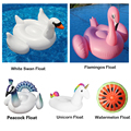 Giant Inflatable Pool Float Flamingos White Swan Unicorn Watermelon Swimming Ring Air Mattress Adult Children Water Toys Piscina
