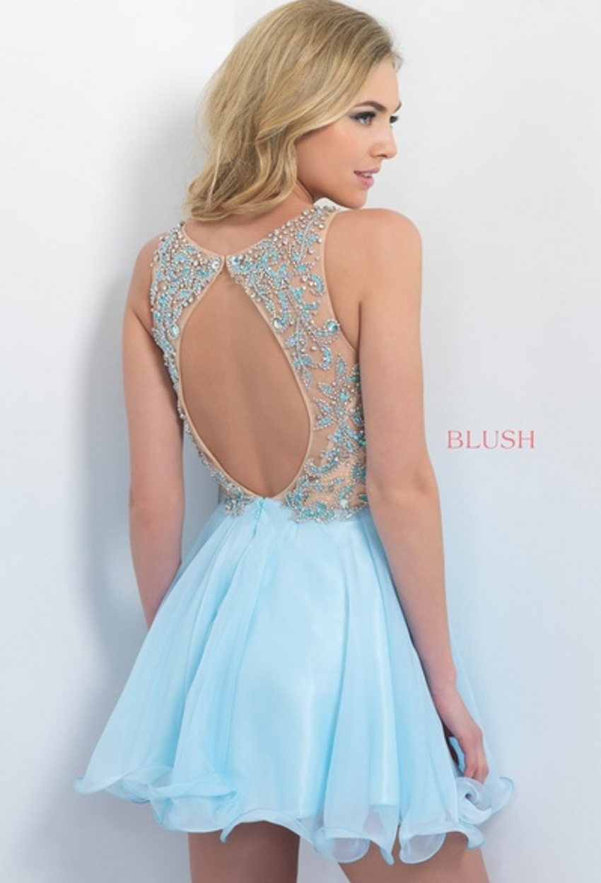 ea166af1 Beaded A Line Modest Sparkly Short Light Blue Homecoming Dresses-in Homecoming  Dresses from Weddings & Events on Aliexpress.com | Alibaba Group
