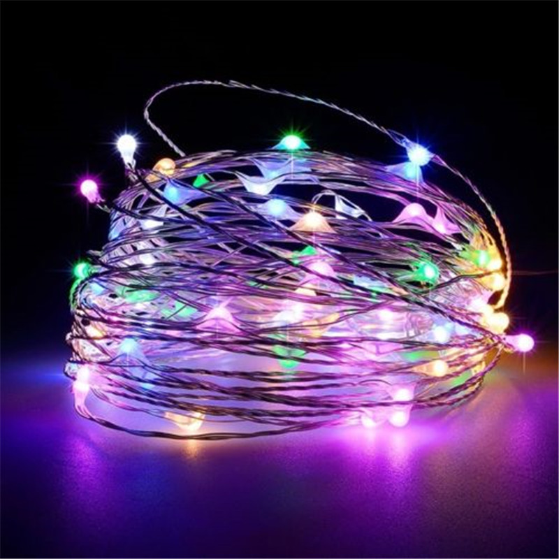 10m 100leds Silver Wire Garland Usb Led String Lights Holiday For Fairy Christmas Wedding Party Decoration S10 Orders Are Welcome. Lights & Lighting Led String 5m 50leds