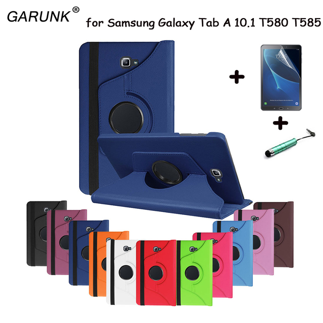 for Samsung Galaxy Tab A A6 10.1 2016 SM-T580 T580N T585 T585C Tablet Case 360 Degree Rotating Stand Leather Protective Cover