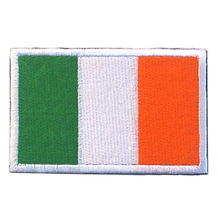 лучшая цена Embroidered Ireland Flag Patches Army Hook & Loop Patch 3D Tactical Military Patches Fabric Armband National Flag Badge