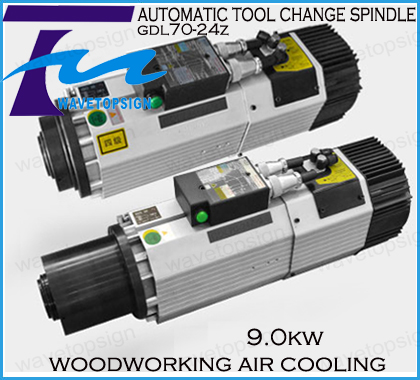 9KW air cooling automatic tool change spindle woodworking using good quality 220v 380v free shipping hsd air cooled automatic tool change spindle iso30 cnc woodworking engraving machine handle rivet shank groove