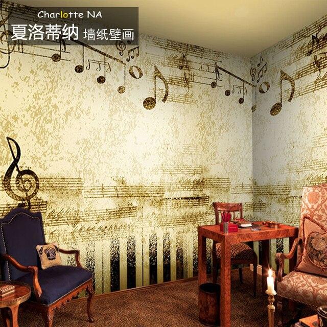 Notes retro nostalgia wallpaper mural wallpaper backdrop living room ...