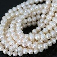 Elegant Fashion Natural White Cultured Freshwater Pearl Beads Women Hot Sale Jewelry Making 15inch B1337