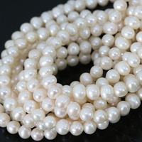 Elegant Fashion Natural White Cultured Freshwater Pearl Beads Women Hot Sale Jewelry Making 15inch B1337