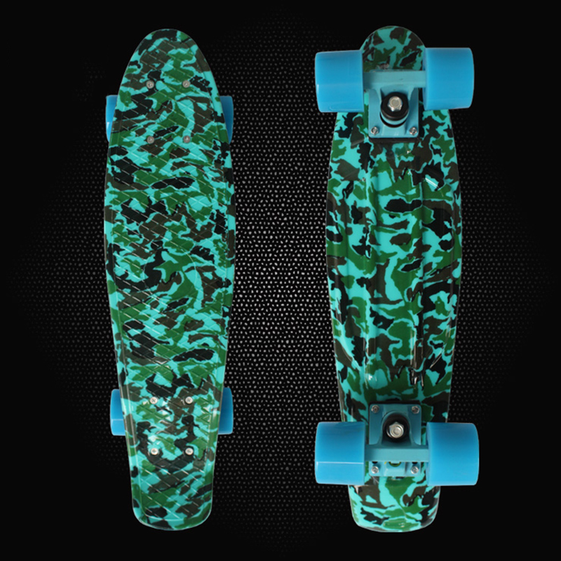 ФОТО Peny Board Fish board Camouflage Printed mini cruiser skateboard decks single long board children's scooter skate longboard PN19