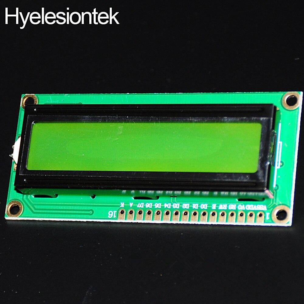 Для пи малины Display-LCD-16×2 hd44780-символьный жк 16 X 2 дисплей жк-модуль 1602 для Arduino характер 5 В нок оранжево-желто-зеленый подсветка