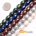 "Pearl: 9-10x10-12mm Olivary Shape Freshwater Pearl Beads DIY Beads Loose Beads For Bracelet Making Strand 15"" Wholesale !"