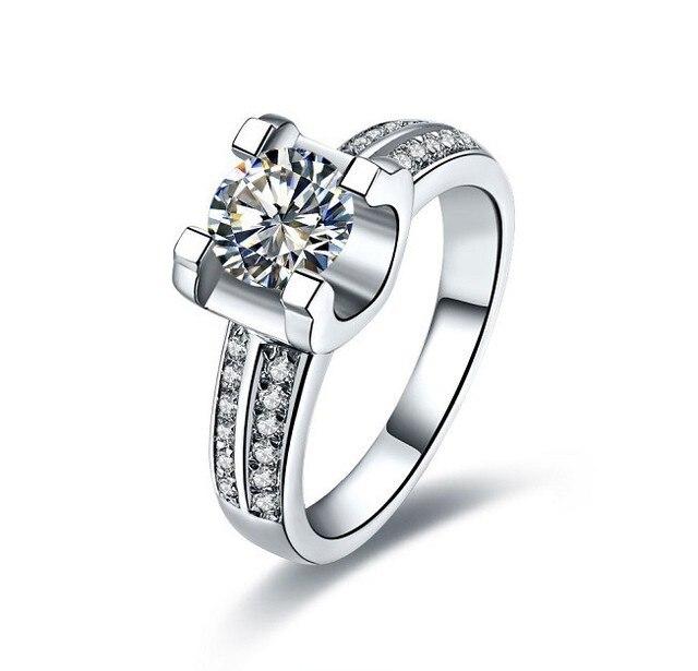 New Arrival 1 Ct Certificate Sona Synthetic Diamonds Women