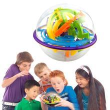 100 уровней, 3D магический лабиринт, шар, интеллект, головоломка, игра, головоломка, качающийся мяч, обучающая развивающая игрушка, орбита, игра для детей